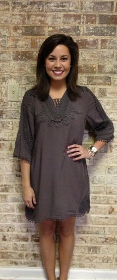 Charcoal tunic $48 <3 Pinned from Bella's Boutique <3 #Charcoal #Tunic #Moreno #MUR