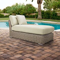 Wyatt Outdoor Right Arm Chaise with Cushions in Weathered Grey Arhaus outdoor Pinterest contest