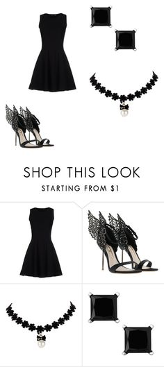 """""""Black homecoming dress"""" by lexaguilbert ❤ liked on Polyvore featuring Proenza Schouler"""