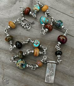 Sterling Silver & Lampwork Necklace