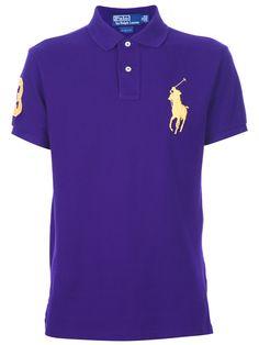 RALPH LAUREN BLUE  logo polo shirt