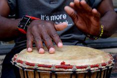 Drumming a Djembe