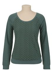 Lace Front Pullover - maurices.com