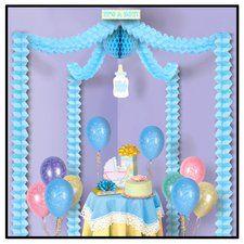 It's A Boy Blue Baby Shower Decoration Canopy Kit