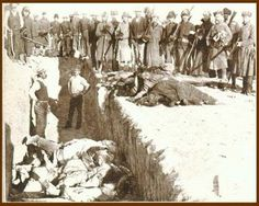Mass grave at Wounded Knee - South Dakota USA - 300 Indians massacred by US Cavalry