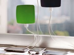 Charge your smartphones the eco-friendly way without cluttering up your outlets with a solar window charger.
