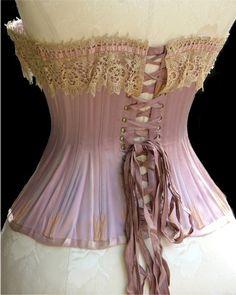 Victorian corset, back