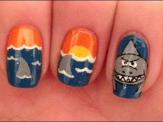 Shark Week Nail Art Tutorial