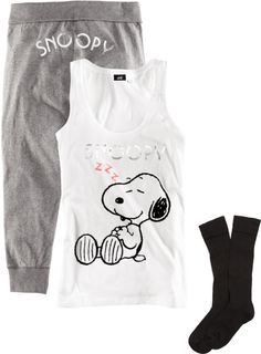 """Snoopy"" by hellokitting ❤ liked on Polyvore"