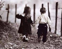 boy girl holding hands KA
