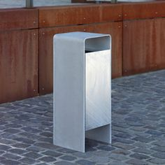 Versio corpus Litter bin 50 L with ashtray Metal And Wood Bench, Laser Cut Steel, Ral Colours, Urban Park, Galvanized Steel, How To Level Ground, Architecture Design, Products, Architecture Layout