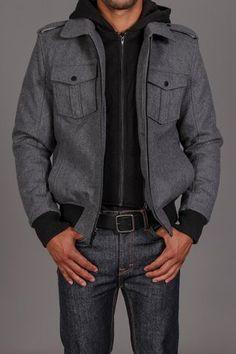 ++ Black Rivet 4 Pocket Zip Bomber Jacket