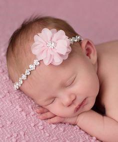 Love this Pink Flower Rhinestone Headband on #zulily! #zulilyfinds