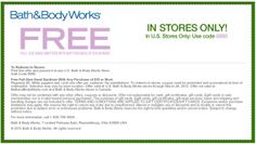 Bath and Body Works Coupons Free Sanitizer