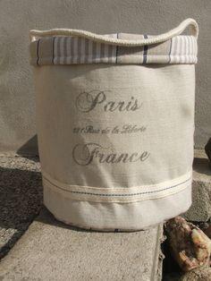 Textilní košík Paris