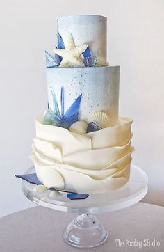 @The Pastry Studio Watercolor-Seagrass Wedding Cake was featured on Shutterfly! 90+ Showstopping Wedding Cake Ideas For Any Season   Shutterfly