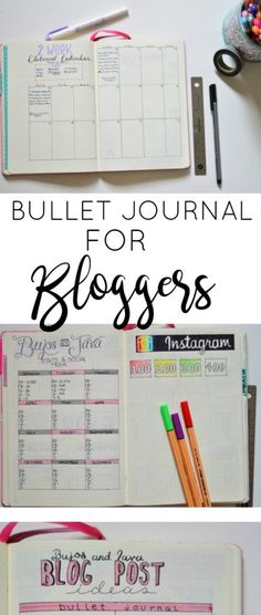 The guide to using your bullet journal as a blogging tool. Get organized, prioritize, and become more productive with these page ideas.