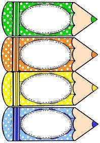 RECURSOS DE EDUCACIÓN INFANTIL: LÁPICES DE COLORES PARA LOS NOMBRES Classroom Labels, Classroom Decor Themes, Classroom Bulletin Boards, Classroom Rules, School Classroom, Class Decoration, School Decorations, Educational Games For Kids, Kids Learning