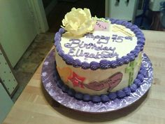 This cake was made by Pamela Gonzalez, if you need a specialty cake call me at 609-226-3423, thanks :).