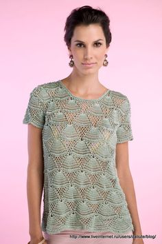 Crochetemoda: Blusa de Crochet Giovana Dias