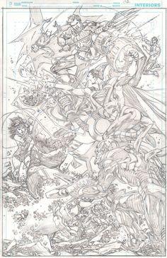 Justice League #23 pg 01 by ~IvanReisDC on deviantART