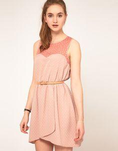 Asos casual light pink shade dress
