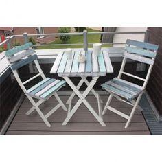 Das Balkonset Boat-Look von Consul Garden aus Akazienholz bringt frischen Wind auf Ihren Balkon!