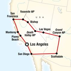 Route map for Best of the West (NUAA)