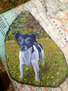 Toby, acrylic on slate Slate, Pitbulls, Paintings, Dogs, Animals, Chalkboard, Pit Bulls, Animaux, Pitt Bulls
