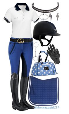 """""""Blue"""" by dressagegirl217 ❤ liked on Polyvore featuring Biarritz, Gucci and Weston"""
