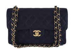 Chanel Black Caviar Medium-small Classic 2.55 Double Flap Bag