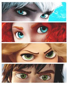 I love how the guys are dream works and tbe girls are disney (still my top 4 animated movies)