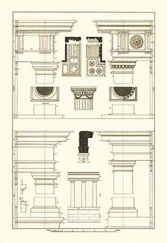 Doric, Tuscan Orders and Columns
