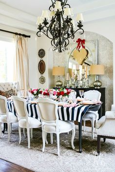 Chic Galentine's Day Table for Valentine's Day - Randi Garrett-Getting together with friends will help make this year more fabulous for you and them! Design
