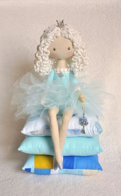Princess on the Pea cloth doll  handmade doll  art от NilaDolss