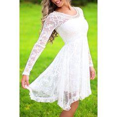 A nice flowy White Lacey dress