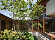 Inner courtyard by Toshohito Yokouchi Architect and Associates