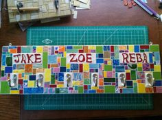 Wall Mosaic with Multiple Hooks and by velvetbearmosaics on Etsy