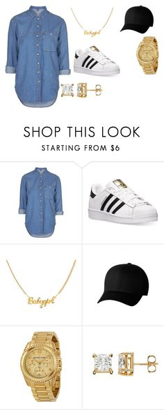 """SUPERSTAR"" by aminay2005 on Polyvore featuring Topshop, adidas, Flexfit and Michael Kors"