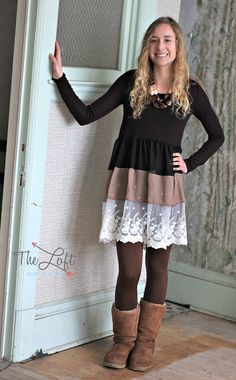 The colors in this Bellamie dress are gorgeous...  Shop this look at The Loft in store or online...