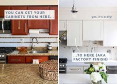 The RIGHT Way To Paint Your Kitchen Cabinets and Save $$$ (Factory Finish Guaranteed) - Emily Henderson Kitchen Flooring, Kitchen Dining, Kitchen Decor, Kitchen Kit, 1950s Kitchen, Custom Cabinet Doors, Cabinet Boxes, Cabinet Refacing, Painting Kitchen Cabinets