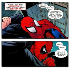 Amazing Spider-Man #589 - Peter Parker does his best Christian Bale voice.