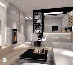 50 m.kw z dodatkiem szarości - Salon, styl minimalistyczny - zdjęcie od ARCHITETTO
