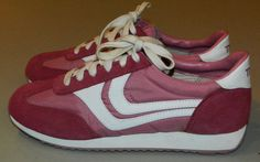 vintage TRAX size 10 running shoes sneakers pink nylon and suede Vintage Sneakers, Vintage 70s, Clothing Ideas, Running Shoes, Shoes Sneakers, Size 10, Exercise, Sport, Trending Outfits