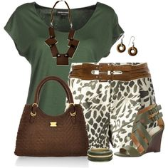 Animal Print Shorts, created by daiscat on Polyvore