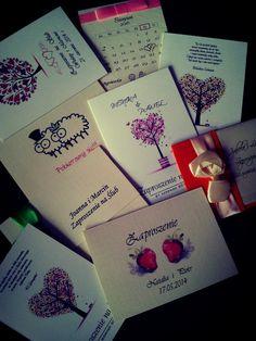 Próbki zaproszeń ślubnych z Allegro