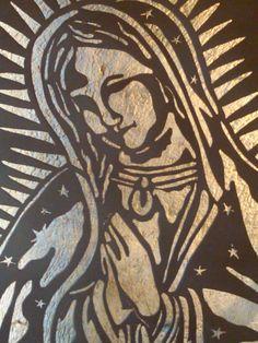 Virgen de Guadalupe en hierro forjado