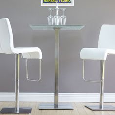Shop for Jenna Square Crackle Glass Pub Table. Get free delivery at…