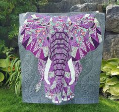 Paper Piecing Patterns, Quilt Patterns, Elephant Quilts Pattern, Animal Quilts, Shoulder Bag, Sewing, Abstract, Fabric, Crafts