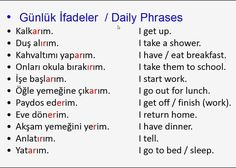 English Words, English Lessons, English Grammar, Learn English, English Language, Vocabulary Journal, Grammar And Vocabulary, Turkish Lessons, Learn Turkish Language